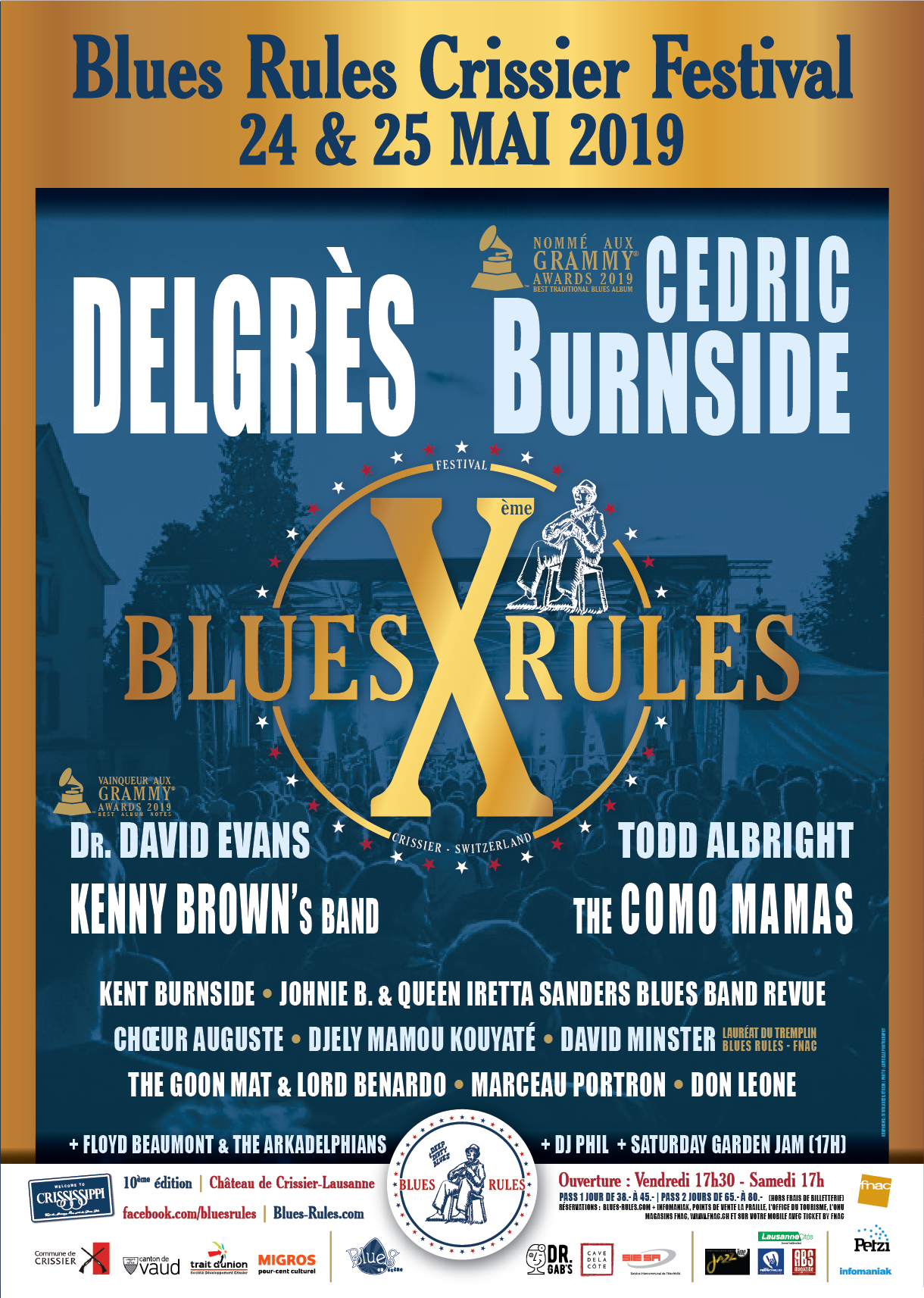 Affiche Blues Rules Crissier Festival 2019