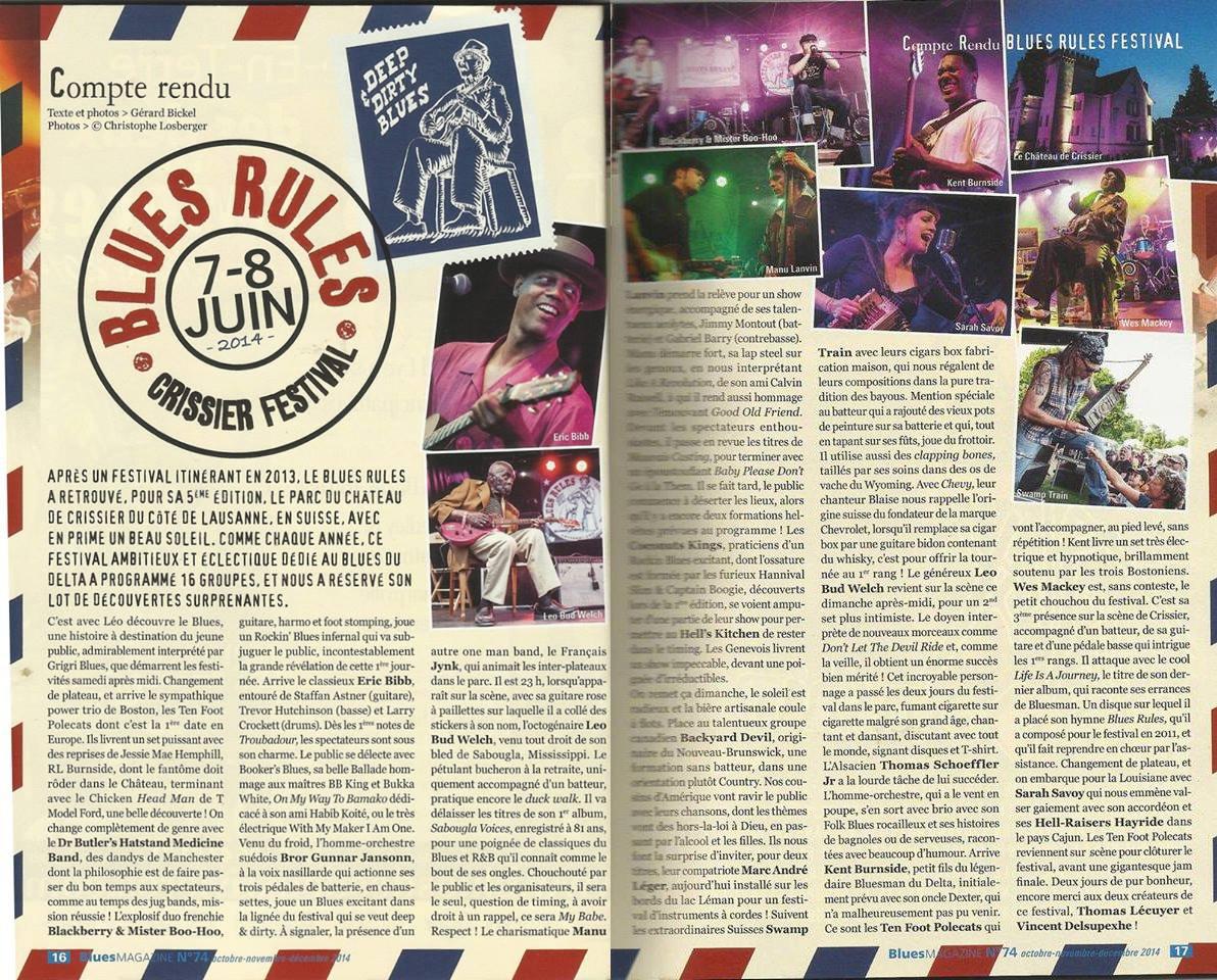 revue dans Blues Magazine