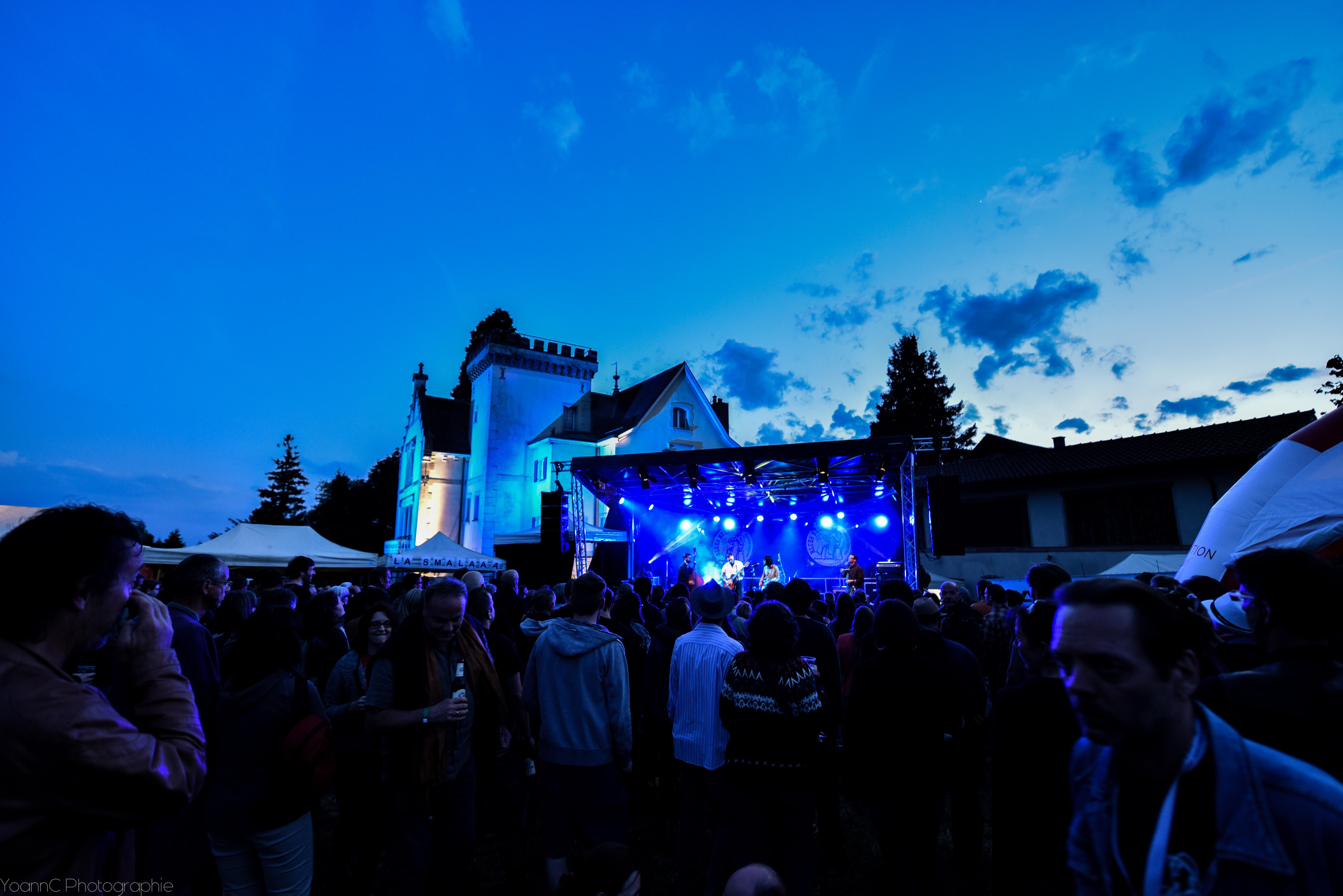 Scène du Blues Rules Crissier Festival et chateau