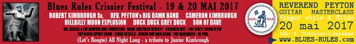 Bannière standard - Blues Rules Crissier Festival 2017