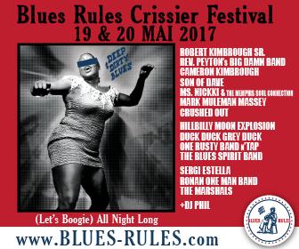 bannière rectangle - Blues Rules Crissier Festival 2017