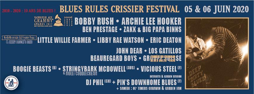 Blues Rules Crissier Festival programmation 2020