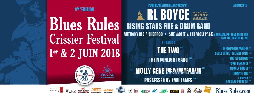 BRCF2018 - Blues Rules Crissier Festival 2018