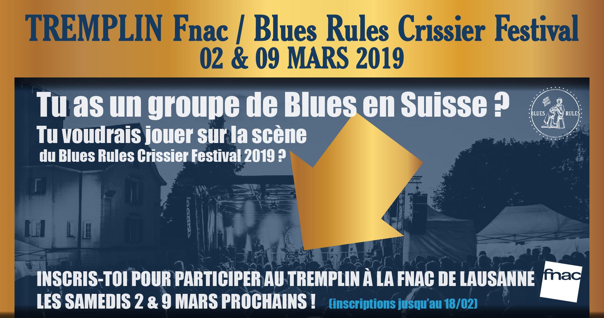 Tremplin Blues Rules / Fnac 2019