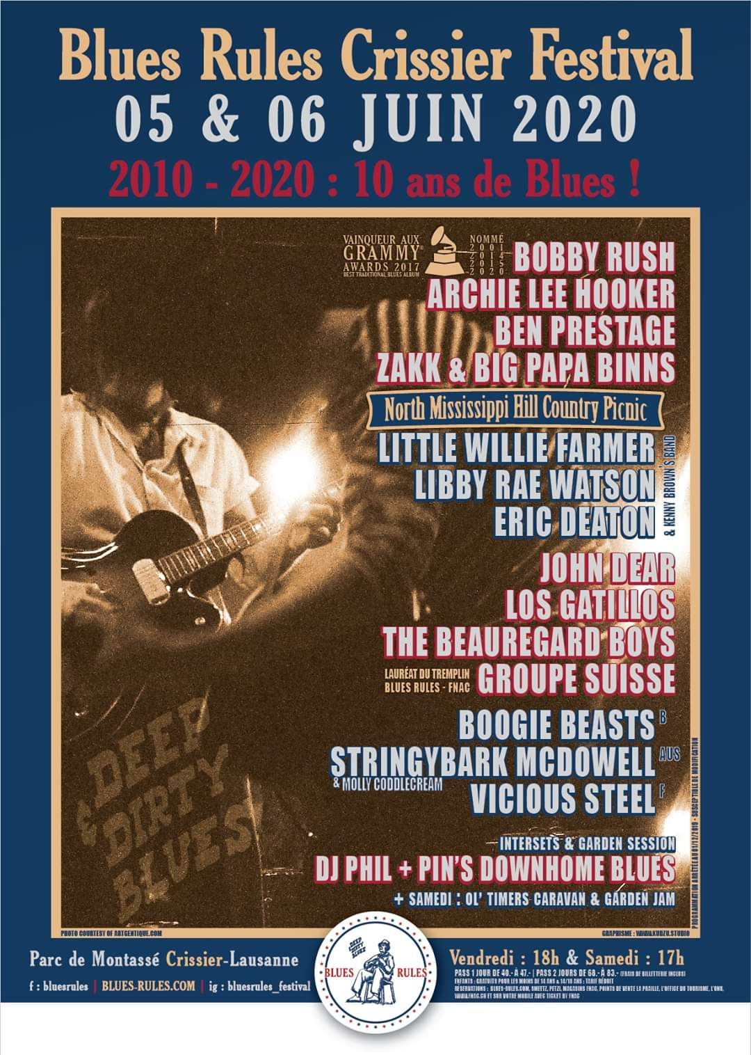 Affiche Blues Rules Crissier Festival 2020
