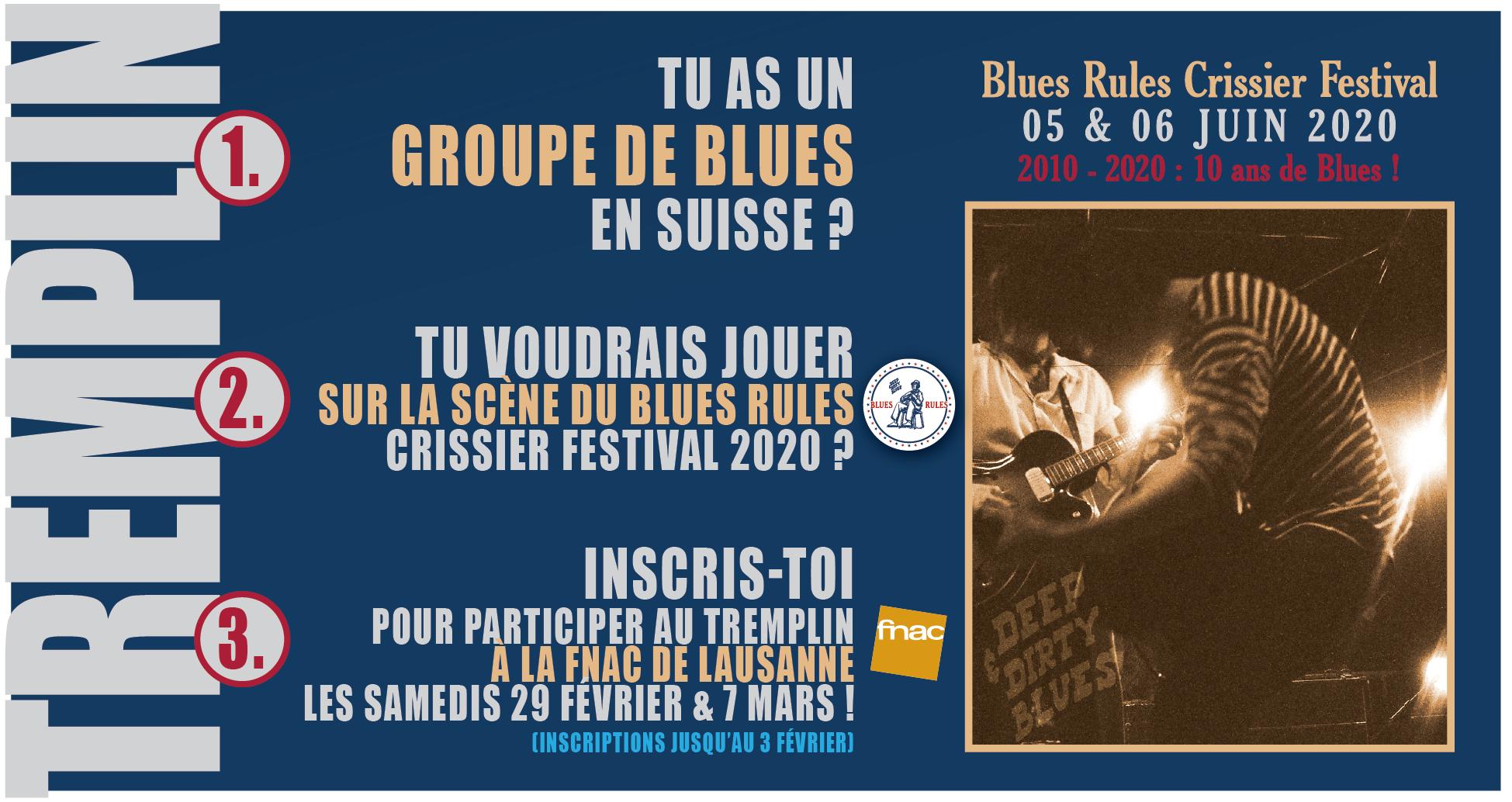 tremplin Blues Rules Crissier Festival Fnac 2020