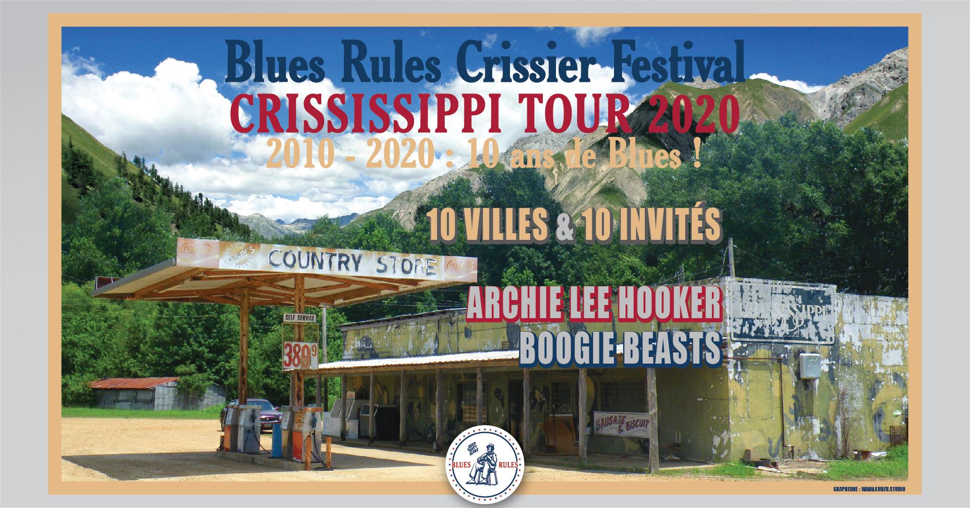 Affiche Blues Rules Crississippi Tour 2020
