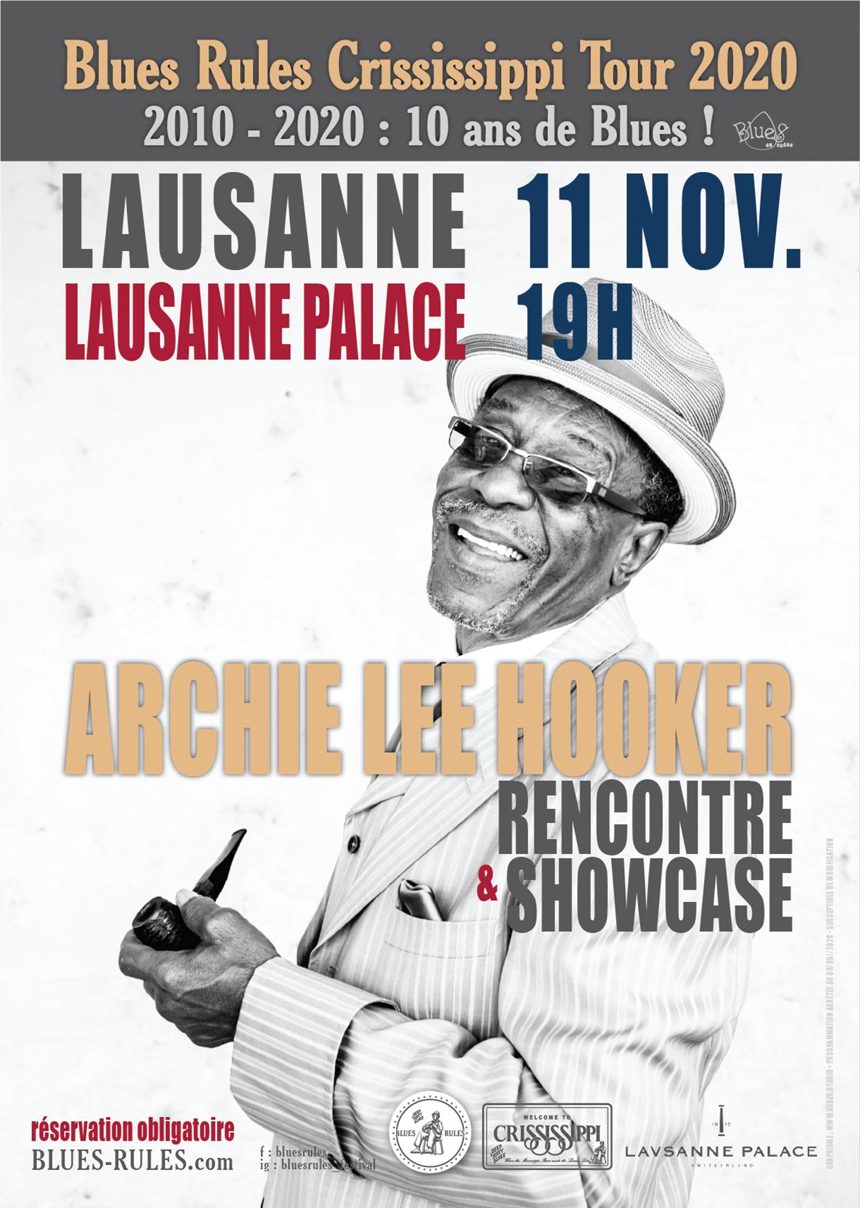 Archie Lee Hooker Lausanne Palace