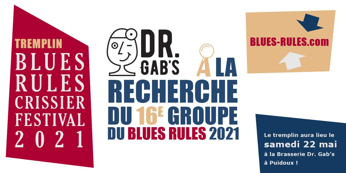Tremplin 2021 Blues Rules Crissier Festival dr gab's