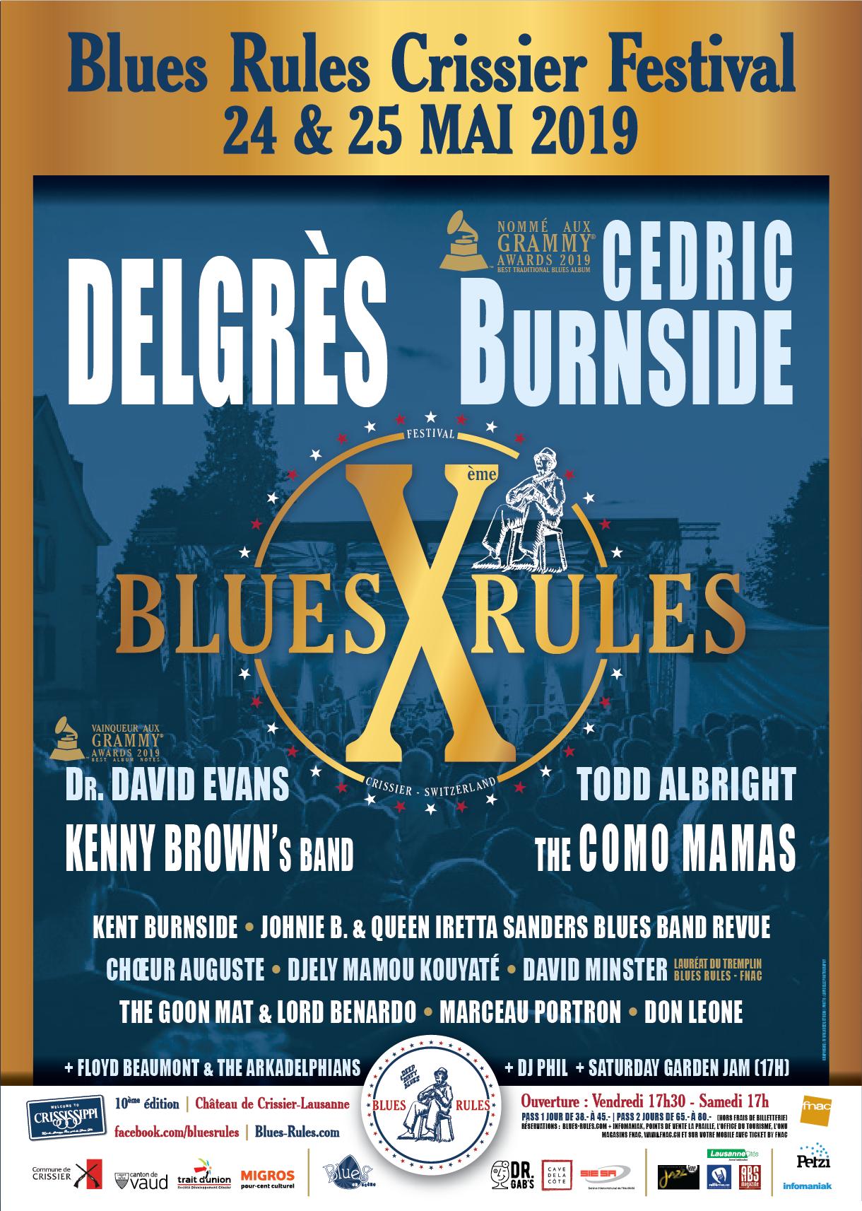 Affiche Blues Rules Crissier Festival 2019