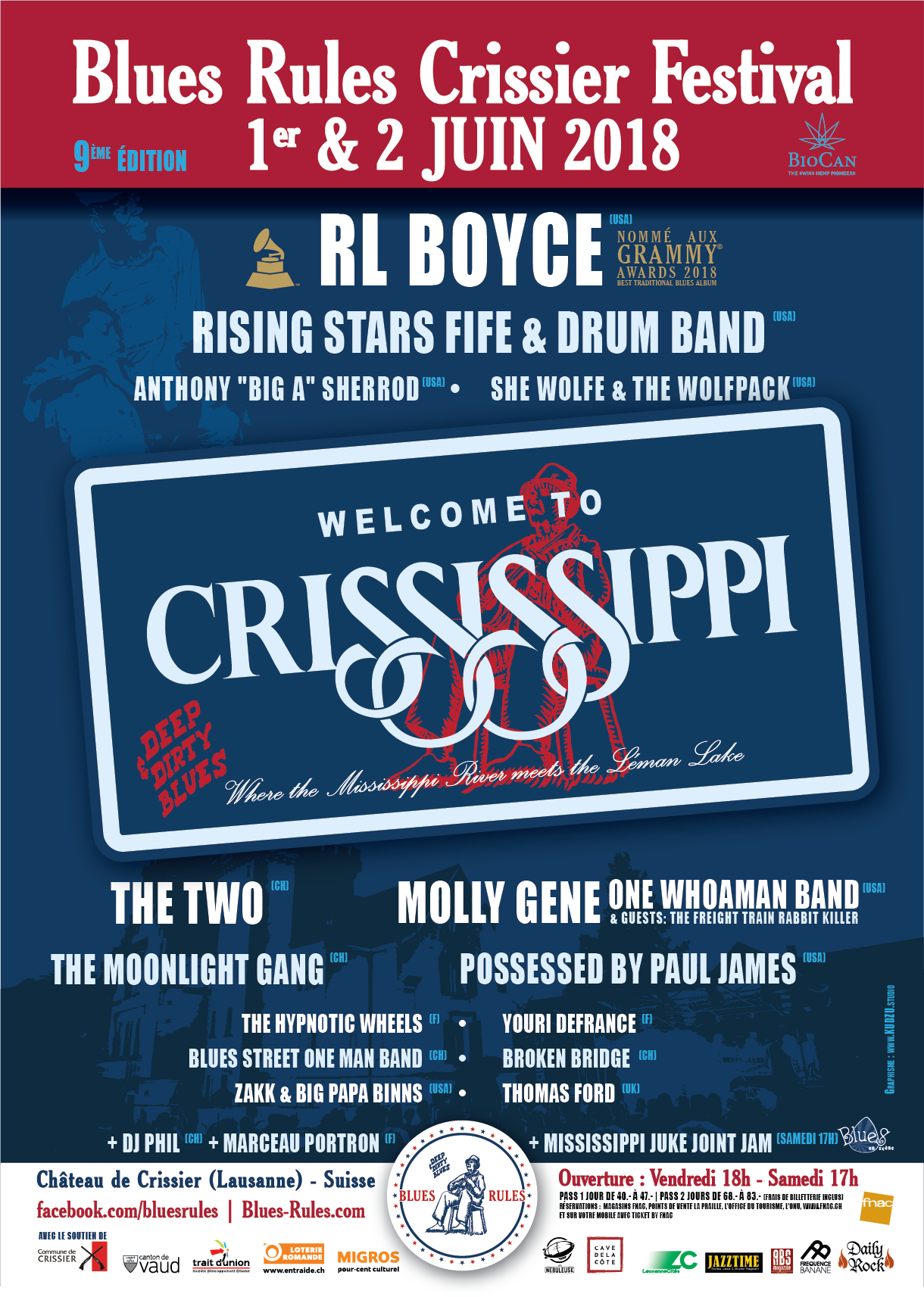 Affiche Blues Rules Crissier Festival 2018