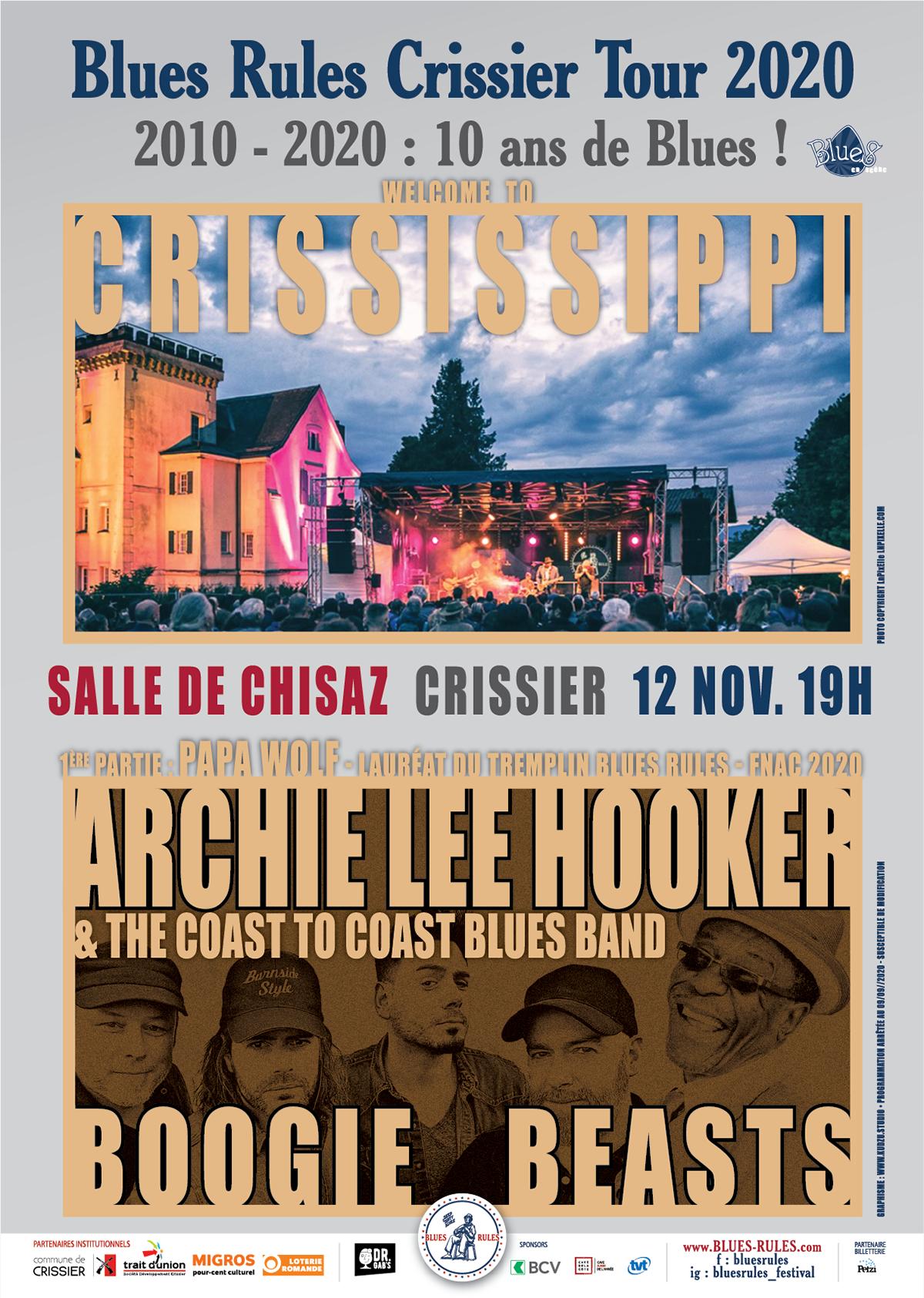 Blues Rules Crississippi Tour 2020 crissier