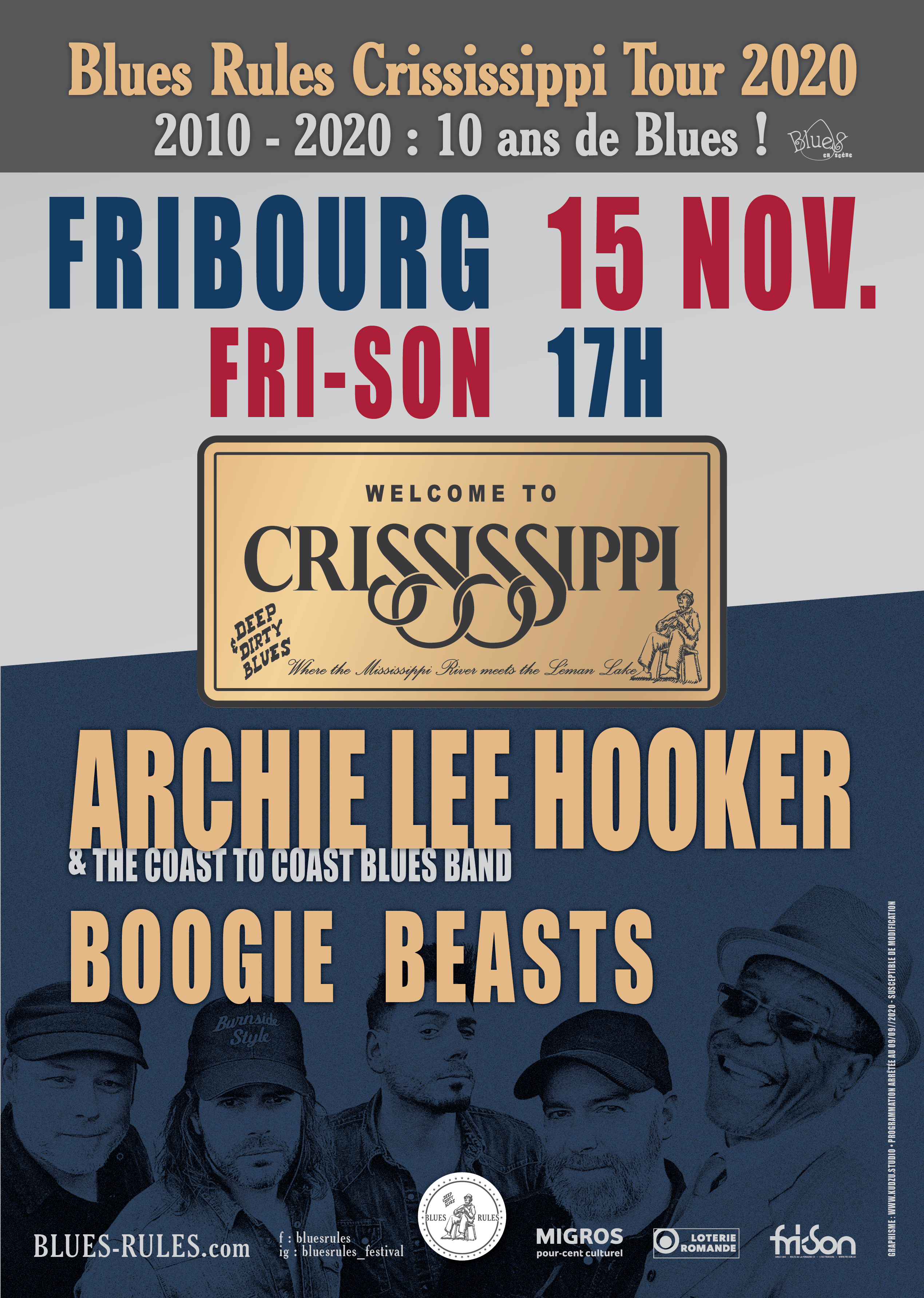 Crississippi tour 2020 fribourg