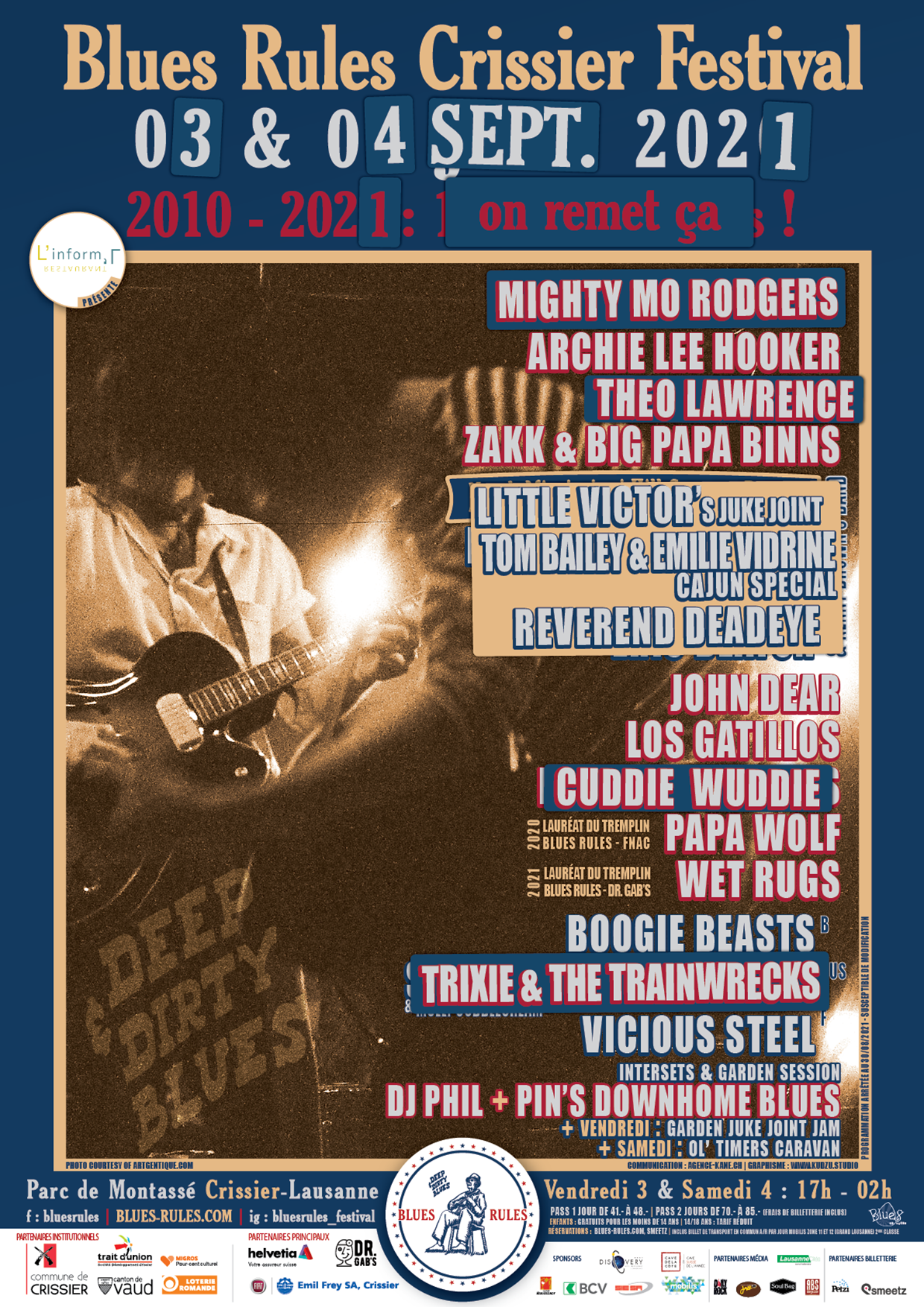 affiche Blues Rules Crissier Festival 2021
