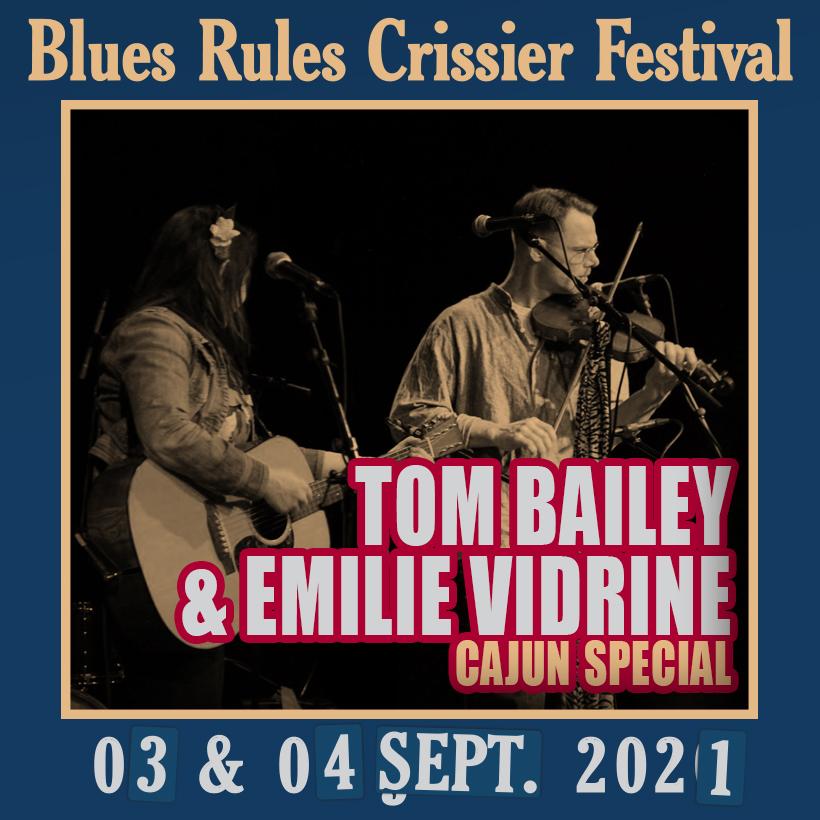 Tom Bailey & Emilie Vidrine Cajun Special @ Blues Rules 2021